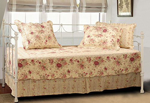 Antique Rose 5 Piece Daybed Set front-951346