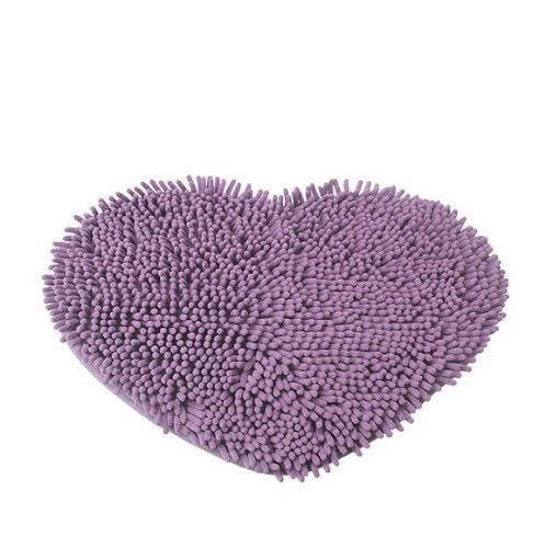 Brightdeal Unique Sweet Love Heart Shape Floor Mats Fluffy Bath Foot Pad Carpet Anti-skid Door Mat - 1