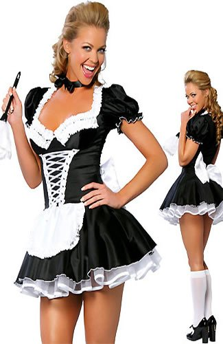 Sexy Maid Costume, Medium UK 10-12 £19.99