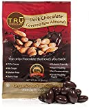 Tasty, Healthy, Organic, And Rich Dark Chocolate Covered Raw Almonds by TRU Chocolate® Snacks, The ONLY Chocolate That Loves You Back Dairy, Gluten and Sugar Free Snacks