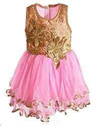 Motley Girls' Dress (4-5-616_Pink_4-5 years)