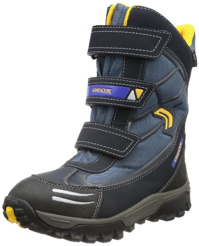 Geox Boys J HIMALAYA WPF A Snow Boots Blue Blau (NAVY/YELLOW C0657) Size: 28