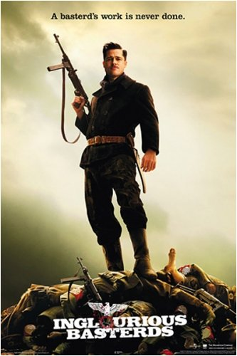 Inglourious Basterds - Movie Poster (Brad Pitt Standing On Dead Bodies) (Size: 24