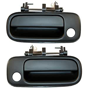 1992 1996 Toyota Camry Front Outside Outer Exterior Black Door Handle Pair Set Left