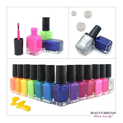 Set di 24 Smalti Per Unghie 24 Diversi Colori Brillanti 7 ML