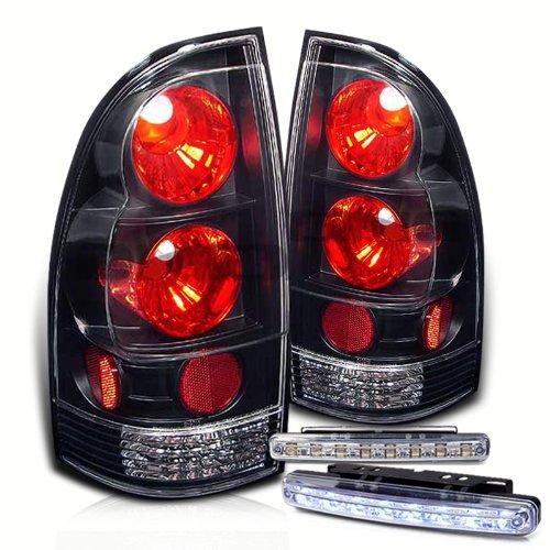Rxmotoring 2005-2009 Toyota Tacoma Tail Lights + 8 Led Bumper Fog Lamps