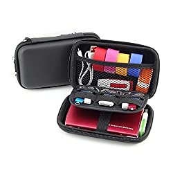 External Hard Drive Carry Case USB Flash Drive Case - Pass Lanry Universal Electronics Accessories Travel Organizer Case Bag - Black