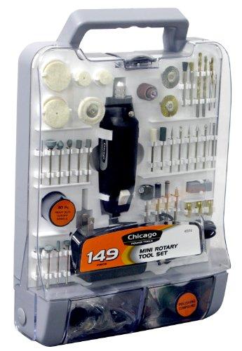 Chicago Power Tools 63516 149 piece Mini Rotary Tool Set