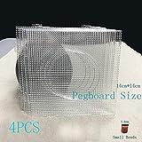 4PCS 2.6mm Mini Hama Fuse Beads Transparent Big Square Pegboards Beads Boards Material Template Perler Artkal Beads Pegboard