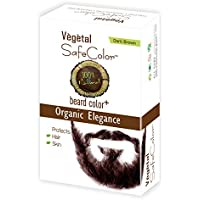 Vegetal Safe Color - Natural Hair Colour For Beard- (No PPD, No Ammonia, No Peroxide) (25g. X 3, Dark Brown) Pack...