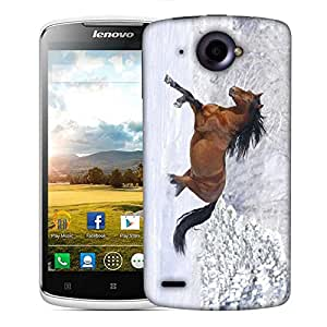 Snoogg Running Horse Designer Protective Phone Back Case Cover For Lenovo S920