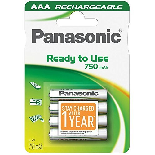 Panasonic EVOLTA 1600 CYCLE AAA RECHARGEABLE BATTERY 800 mAh (min 750) stay charged (Panasonic Evolta Aa compare prices)