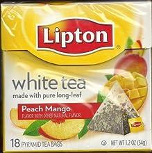 Lipton Pyramid Tea Bags White Tea With Island Mango amp Peach Flavor 18-Count Tea Bags Pack of 2