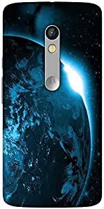 Snoogg Universe View Solid Snap On - Back Cover All Around Protection For Mot...
