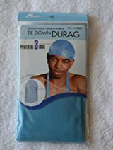 Aqua Sky Blue DuRag Hat - Tie down Du-Rag Hair Cap