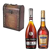 Famous Cognacs in Antique Gift Box