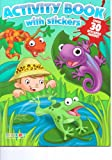 Activity Book with Stickers ~ Jungle Safari art cover