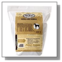 Primal Pet Food Raw Diet, Canine Lamb Formula, 3-Pound Nuggets
