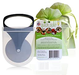 The Quick Split 2 pack with gift bags - 2 portable food cutters with covers for on the go baby and toddler feeding