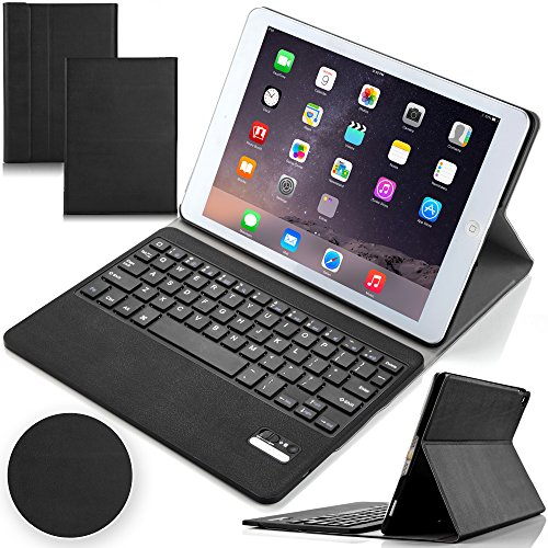 F.G.S iPad Pro 9.7 キーボード カバー付き 超薄型 オートスリープ機能付き 一体型 脱着式 ipad pro 9.7 bluetooth キーボード ipad pro 9.7インチ キーボード 日本語取扱説明書付き F.G.S正規代理品