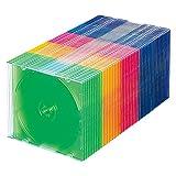 サンワサプライ スリムBD DVD CDケース 1枚収納×50 5色ミックス FCD-PU50MX ランキングお取り寄せ