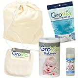GroVia - Custom Bundle: Includes 1 Cloth Wipes - 1 Magic Stick - 1 BioLiners - 1 Mighty Bubbles - 1 Wet Bag