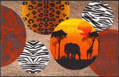 Afrika 75 x 120 cm waschbare Fußmatte Salonloewe