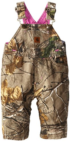 Carhartt Baby-Girls Infant Washed Camo Canvas Bib Overall, Realtree Xtra, 18 Months front-929111