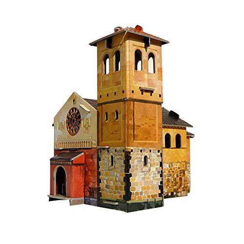 Clever Paper Kids Architectural Playing Toys Chapel