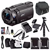 Sony FDR-AX33 4K Ultra HD Handycam Camcorder + NP-FV70 Battery + External Charger + 16GB SDHC Card + 32GB SDHC Card + Case + Mini Flexible Tripod + Card Reader + Card Wallet Saver Bundle