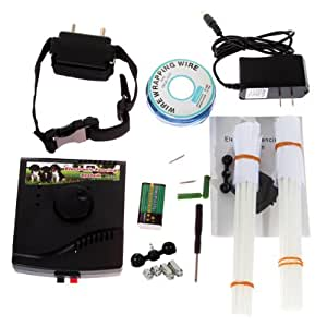 NEW Waterproof Underground Electric Shock Dog Collar Fence System for 1 Dog