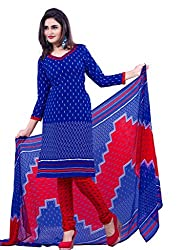 DnVeens Women's Chudidar Printed Unstiched Suit Dress Material