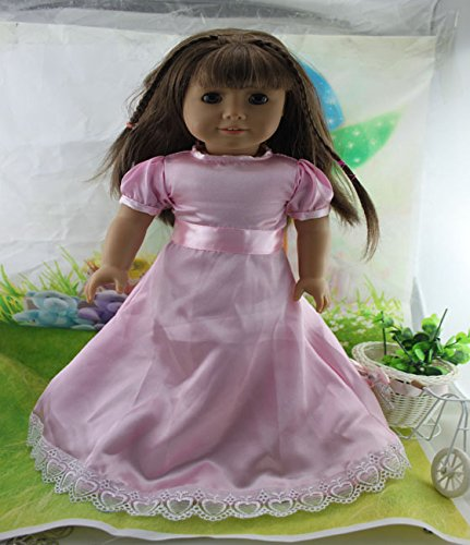 Teenitor(TM) Light Pink Dress Fits 18 Inch Girl Dolls (Shipping By FBA) - 1