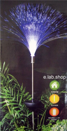 Colour Changing Solar Fibre Optic Garden Light