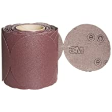 3M Stikit Cloth Disc Roll 341D, PSA Attachment, Aluminum Oxide, 5&#034; Diameter, 80 Grit (Roll of 100)