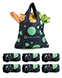 Waste-Less Bags Black and Green Circles (Pack of 6)