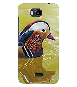 ColourCraft Beautiful Bird Design Back Case Cover for HUAWEI HONOR BEE