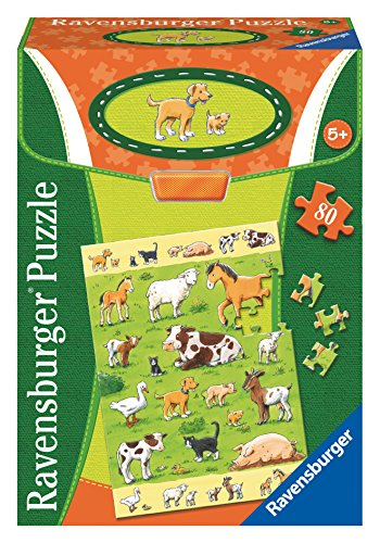 Ravensburger Animals and their Babies Educational Puzzle (80 Piece) - 1