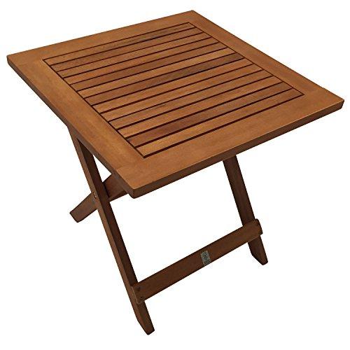 beistelltisch java 45x45cm klappbar eukalyptus ge lt. Black Bedroom Furniture Sets. Home Design Ideas