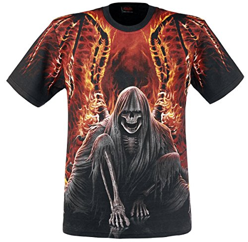 Spiral Flaming Death T-Shirt nero M
