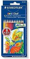 Staedtler - Noris Club - Pack de 12 Crayons de couleur standard - Couleurs Assorties