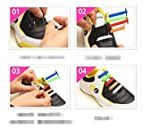 Homeout 1 Set(12pcs) No Tie Silicon Shoelaces - Colorful (White, 12pcs/Kids)