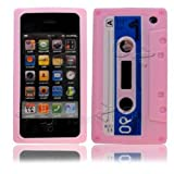 Cassette Retro Tape Cover for iPhone 3G 3GS Gel Silicone Stylish Case Skin Baby Pink from gadget Zoo