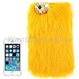 Luxury Fur Bling Rhinestone Hard Protective Case For Iphone 4/4S