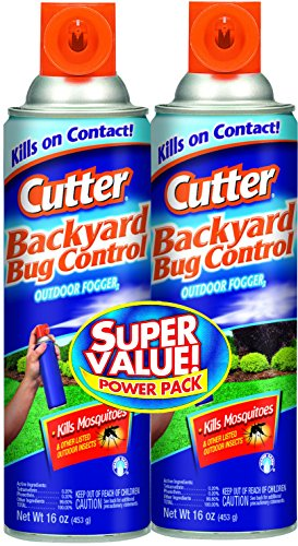 Cutter Backyard Bug Control Outdoor Fogger,16oz, Pack of 2 (Propane Fogger Insect compare prices)