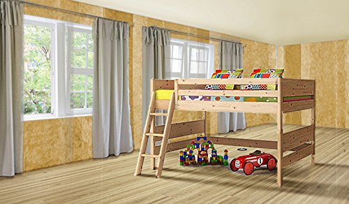 kinder hochbett 90 200 kinderbett zirbe k che. Black Bedroom Furniture Sets. Home Design Ideas