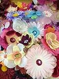 "(100) Assorted Flower Heads-2""-5.5"""
