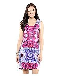Yepme Digital Print Bodycon Dress - Pink & Blue -- YPMDRES0283_L
