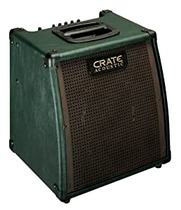 Crate CA15 Cimarron Acoustic Guitar Amplifier, 15 Watts RMS, Dual Inputs, 3 Band EQ with Mid Contour