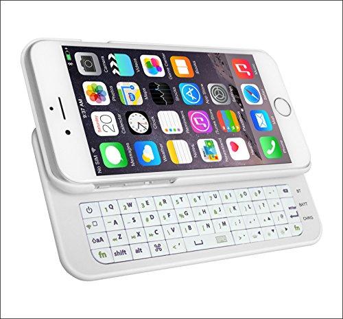 「Origin」 iPhone6 スライドキーボード  4.7インチ対応 iPhone6 Bluetooth キーボード iPhone6ジャストフィット ワイヤレスキーボード + ケース 一体型 IP6SKB ホワイト